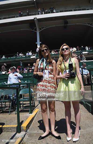 Photographers Brigid Neary and Alexa Pence document Kentucky Oaks Day during the 141st Kentucky Derby on May 1 2015 at Churchill Downs in Louisville...