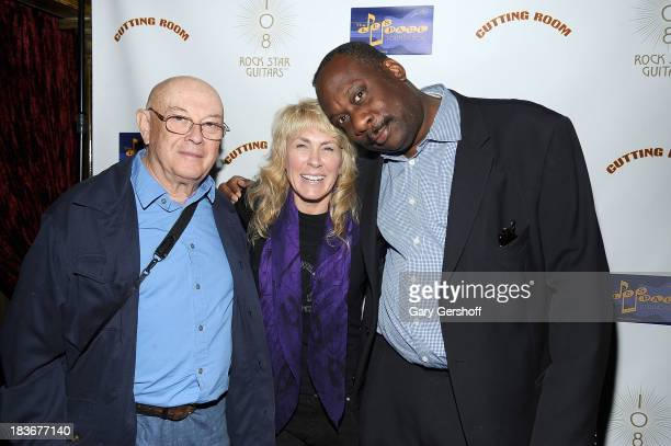 Photographers Bruce Davidson Lisa Johnson and Gene Shaw attend the book launch and performance for '108 Rock Star Guitars' benefitting The Les Paul...