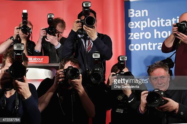 Photographers capture the arrival of Scottish Labour leader Jim Murphy former Prime Minister Gordon Brown and Shadow Scottish Secretary Margaret...