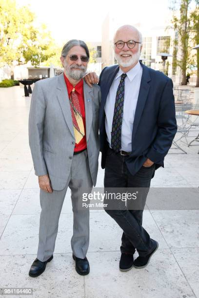 Photographers Christopher Rauschenberg and David Hume Kennerly attend Icons of Style A Century of Fashion Photography 19112011 exhibition opening at...