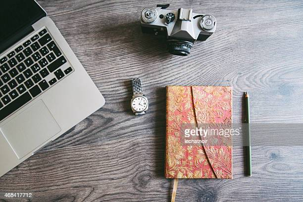photographer's creative workspace
