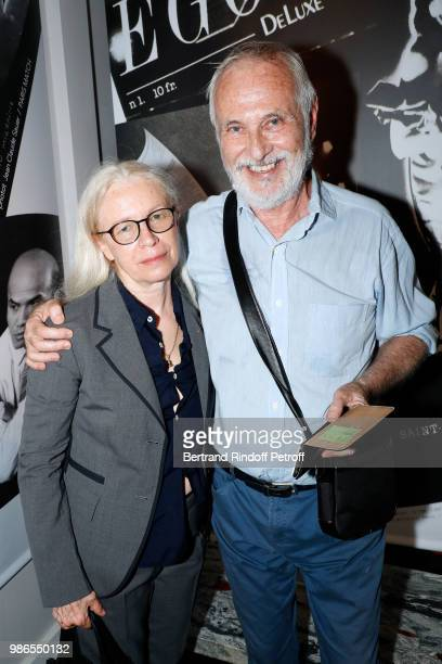 Photographers Dominique Issermann and Philippe Morillon attend the Tan Giudicelli Exhibition of drawings and accessories preview at Galerie Pierre...