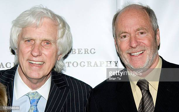 Photographers Douglas Kirkland and Greg Gorman arrive at The Annenberg Space For Photography's 'L8S ANG3LES' Exhibit Opening on March 25 2009 in Los...