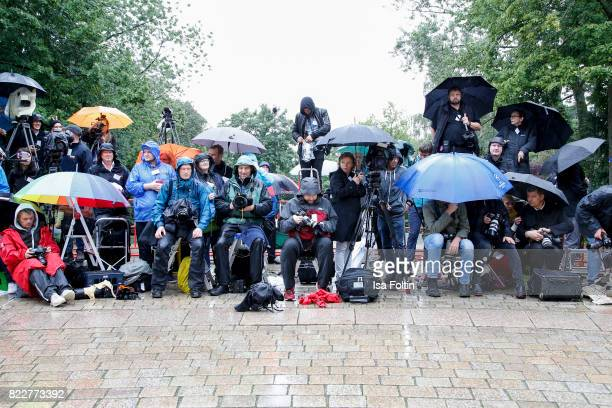 Photographers during the Bayreuth Festival 2017 Opening on July 25 2017 in Bayreuth Germany