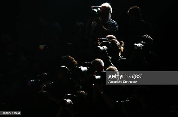 Photographers during the Modem fashion show during Sao Paulo Fashion Week N46 Winter 2019 at Arca on October 22 2018 in Sao Paulo Brazil