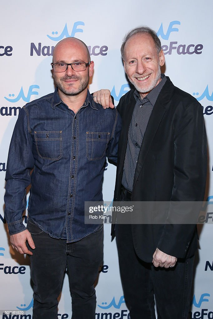 Photographers Eugene Golorgursky (L) and Gary Gershoff attend the launch party for NameFace.com at No. 8 on January 27, 2016 in New York City.