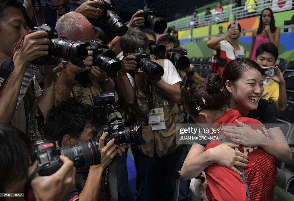 TABLE TENNIS-OLY-2016-RIO-JPN-SIN : News Photo