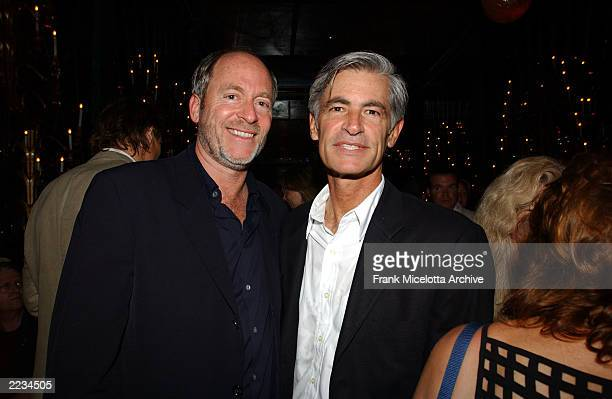 Photographers Greg Gorman and James Nachtwey at the party following the New York premiere of K19 The Widowmaker at the Russian Tea Room in New York...