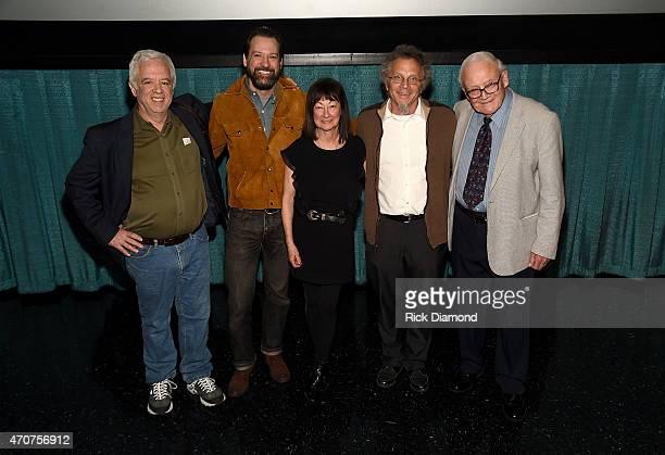 Photographers Henry Horenstein David McClister Raeanne Rubenstein Michael Wilson and Les Leverett attend the world premiere of Country Portraits Of...
