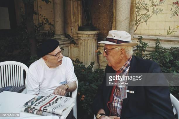 Photographers Joe Rosenthal and John Phillips in Perpignan France August 1993