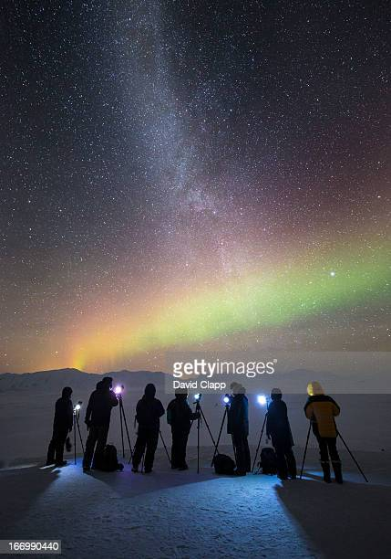 Photographers, Milky Way, Aurora, Iceland