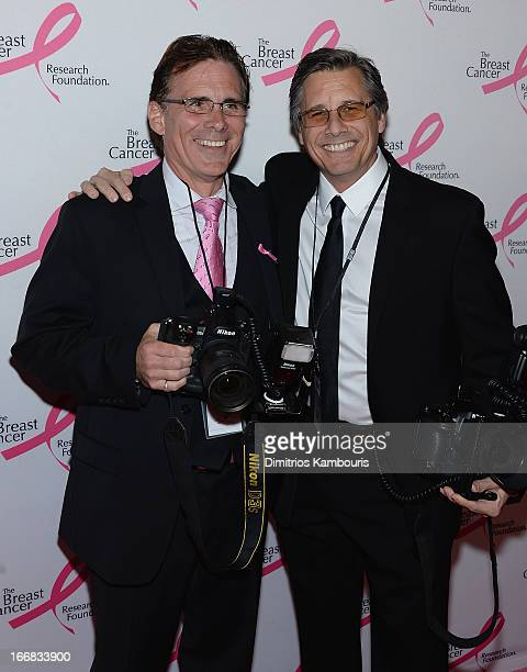 Photographers Rob Rich and Kevin Mazuer attend The Breast Cancer Research Foundation's 2013 Hot Pink Party at The Waldorf=Astoria on April 17 2013 in...