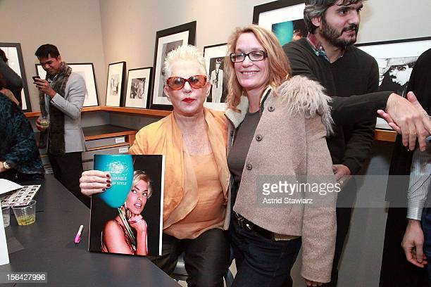 Photographers Rose Hartman and Andrea Renault attend the 'Incomparable Women Of Style' Book Launch Celebration at Staley Wise Gallery on November 14...