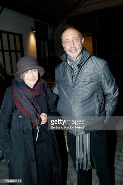 Photographers Sarah Moon and Roger Ballen attend Alaia Foundation Library Opening at Gallery Azzedine Alaia on November 10 2018 in Paris France