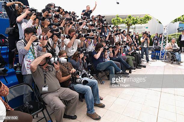 Photographers shoot the 'Chatroom' Photocall at the Palais des Festivals during the 63rd Annual Cannes Film Festival on May 14, 2010 in Cannes,...