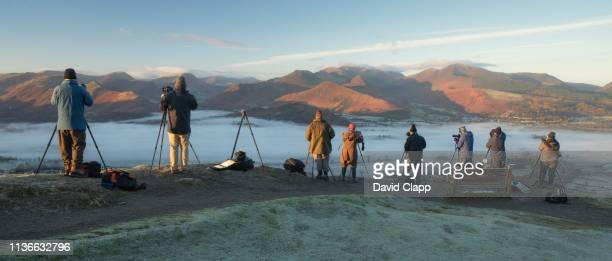 photographers shooting in the lake district - photographer stock pictures, royalty-free photos & images