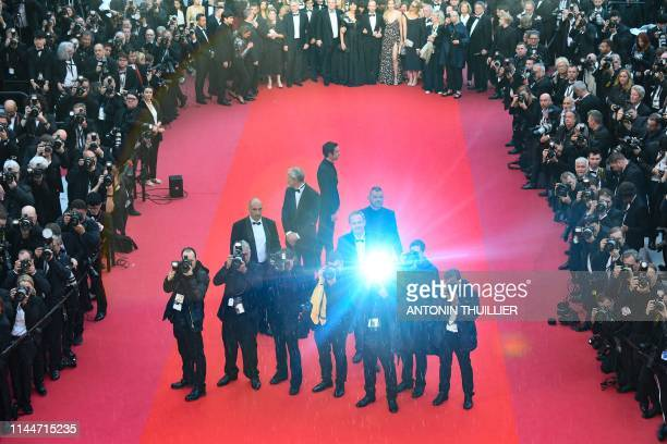"""Photographers take photos of cast members after they arrived for the screening of the film """"The Best Years of a Life """" at the 72nd edition of the..."""