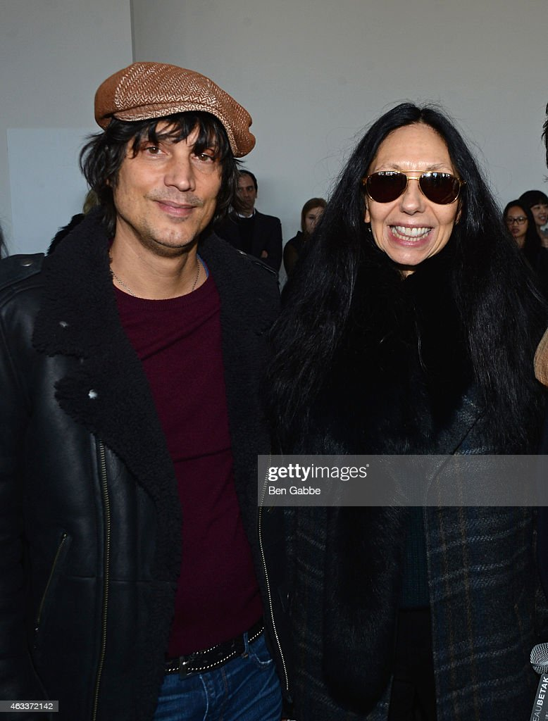 Photographers Vinoodh Matadi (L) and Inez van Lamsweerde attends the Jason Wu fashion show during Mercedes-Benz Fashion Week Fall 2015 at Spring Studios on February 13, 2015 in New York City.