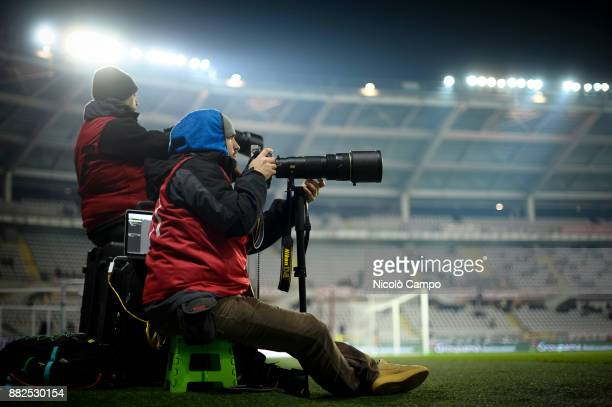 Photographers work during the TIM Cup football match between Torino FC and Carpi FC Torino FC won 20 over Carpi FC