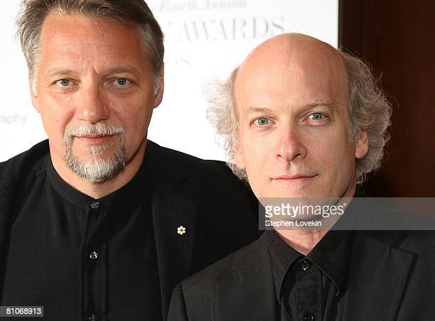Photographes Edward Burtynsky and Timothy GreenfieldSanders attend ICP's 24th Annual Infinity Awards at Pier 60 at Chelsea Piers on May 12 2008 in...