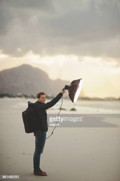 Photographic Assistant on beach shoot
