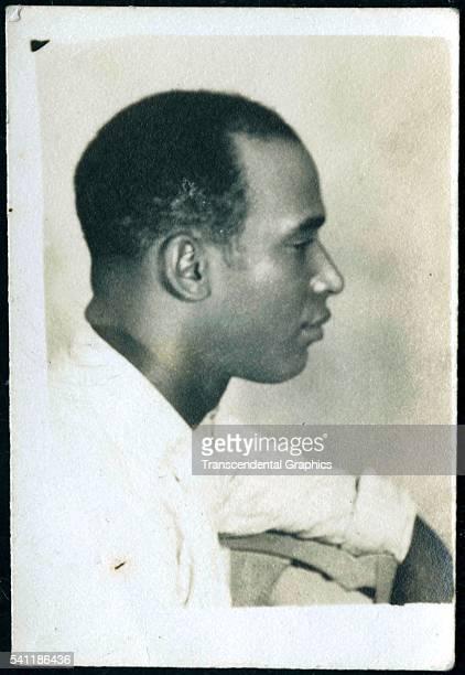 Photographic card with a profile shot of Martin Dihigo, Havana, Cuba, circa 1930.