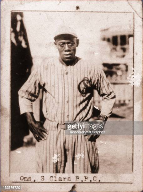 A photographic cigarette insert card for Billiken cigarettes features Cuban Hall of Famer Alejandro Oms was produced in 1923 in Havana Cuba
