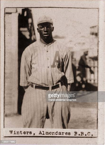 A photographic cigarette insert card for Billiken cigarettes features Negro League star Jesse Winters and was produced in 1923 in Havana Cuba