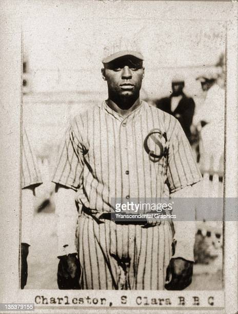 Photographic cigarette insert card for Billiken cigarettes features Cuban Hall of Famer Oscar Charleston and was produced in 1923 in Havana, Cuba.