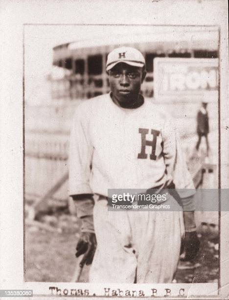 A photographic cigarette insert card for Billiken cigarettes features Negro League star Clint Thomas and was produced in 1923 in Havana Cuba