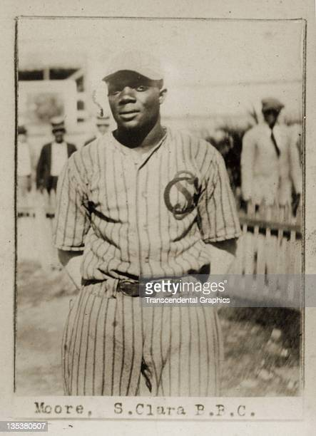 A photographic cigarette insert card for Billiken cigarettes features Negro League star Dobie Moore and was produced in 1923 in Havana Cuba