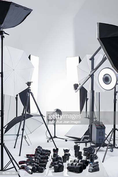 Photographic equipment in studio