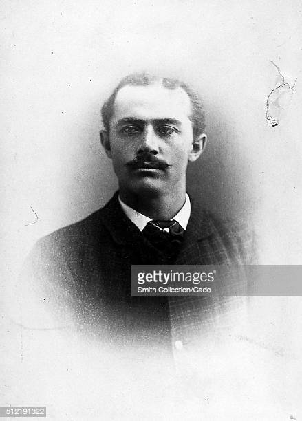 A photographic headshot portrait of Joe Hornung wearing a suit he was a baseball player who was a left fielder he played eleven seasons of...