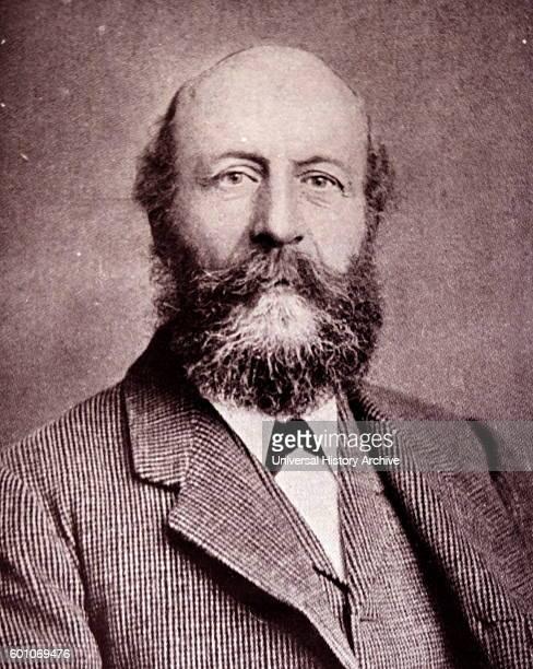 Photographic portrait John Cadbury founder of Cadbury's cocoa an chocolate company Dated 19th Century