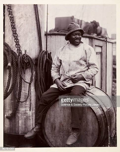 A photographic portrait of a black fisherman taken by George Davison [18541930] in about 1900 probably in Lowestoft The fisherman is pictured seated...