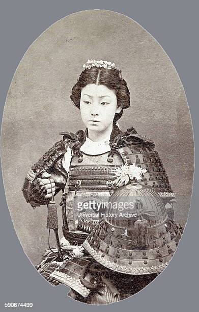 Photographic portrait of a female Samurai Dated 1800