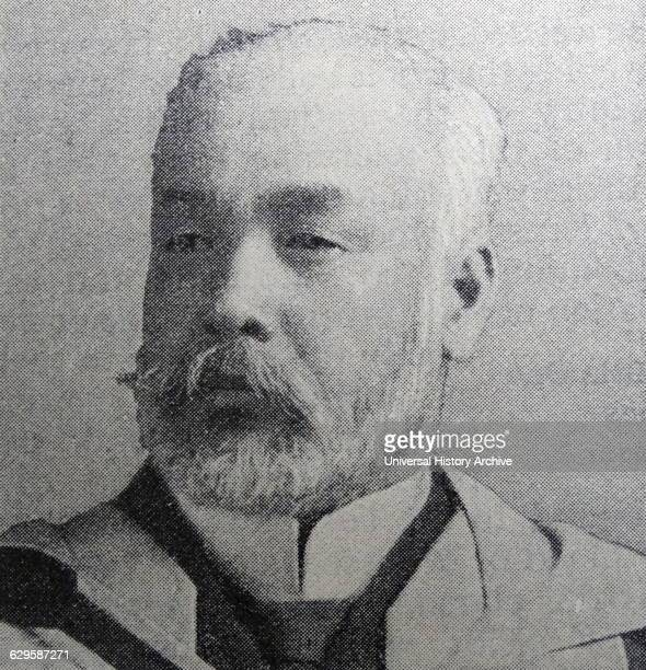 Photographic portrait of Count Hayashi Tadasu a career diplomat and cabinet minister in Meiji period Japan Dated 20th Century