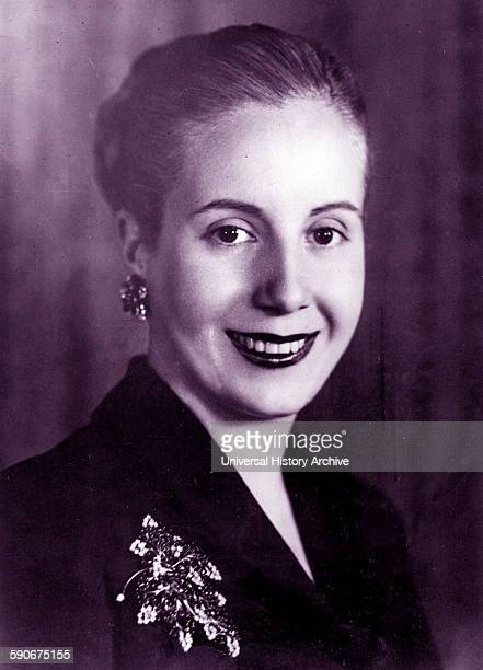 Photographic portrait of Eva Peron second wife of Argentine President Juan Peron and served as the First Lady of Argentina. Dated 1945.