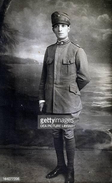 Photographic portrait of Fabio Filzi Italian patriot World War I Italy 20th century Trento Castello Del Buonconsiglio Museo Del Risorgimento E Della...