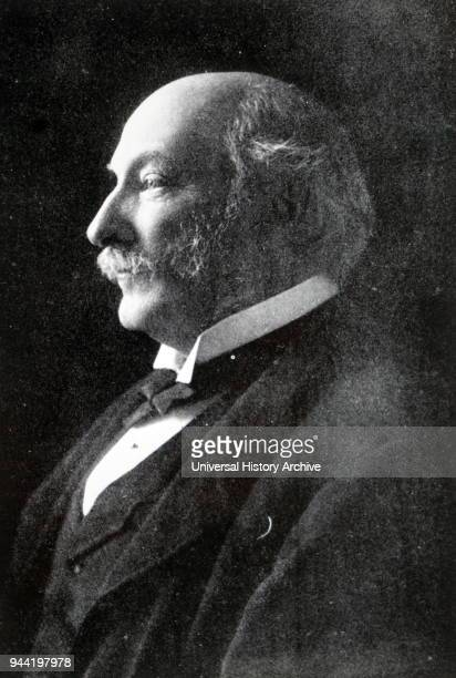 Photographic portrait of John William Strutt 3rd Baron Rayleigh a physicist who with William Ramsay discovered argon an achievement for which he...