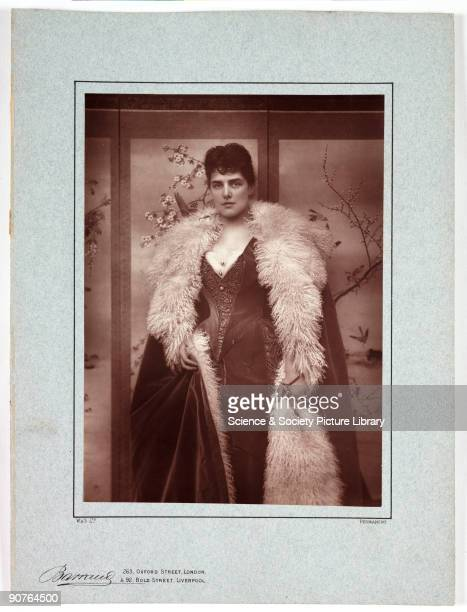 A photographic portrait of Lady Randolph Churchill taken at the studio of Herbert Rose Barraud Oxford Street London in about 1885 Daughter of an...