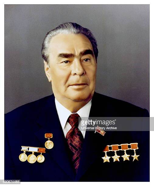 Photographic portrait of Leonid Brezhnev General Secretary of the Central Committee of the Communist Party of the Soviet Union Dated 1964