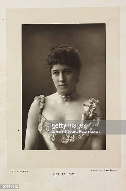 A photographic portrait of Lillie Langtry taken by W D Downey A closeup photograph of Lilllie Langtry and an early example of image 'enhancement' An...