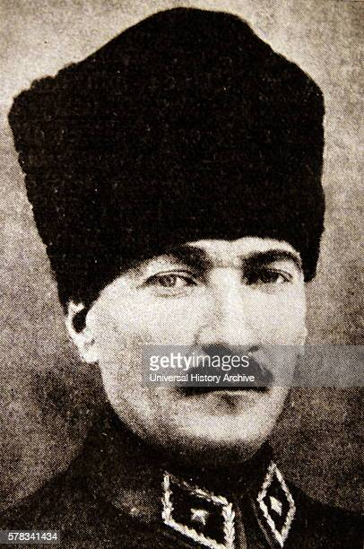 Photographic portrait of Mustafa Kemal Ataturk a Turkish army officer revolutionary and President of Turkey Dated 20th Century