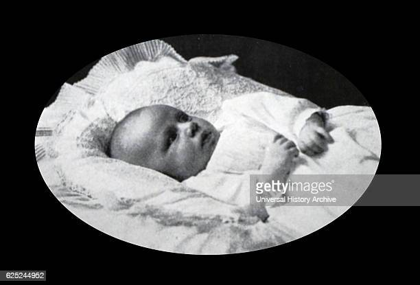 Photographic portrait of Princess Margaret Countess of Snowdon as an infant Dated 20th Century