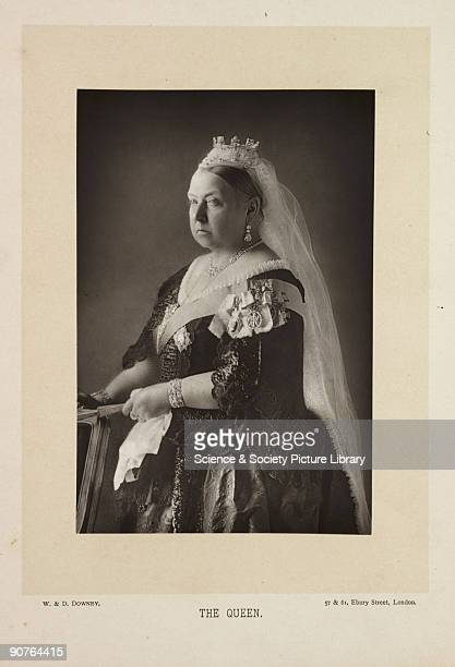A photographic portrait of Queen Victoria taken by W D Downey Victoria succeeded to the throne of her uncle William IV on June 20 her coronation...