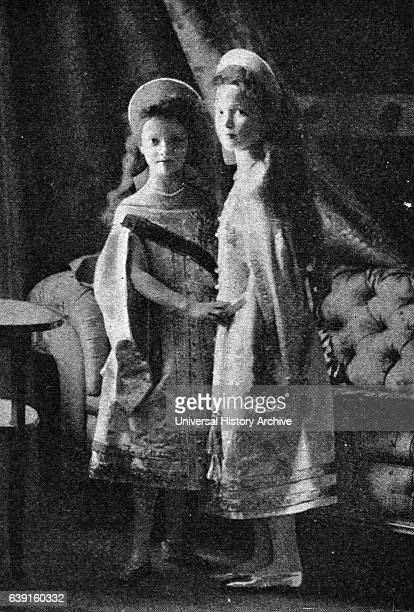 Photographic portrait of the Grand Duchess Olga Nikolaevna of Russia and Grand Duchess Tatiana Nikolaevna of Russia the two eldest children of...