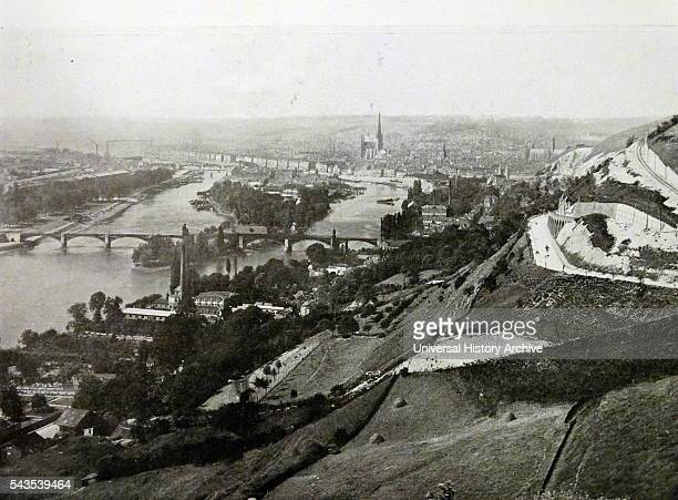Photographic print of a general view of Rouen France Dated 19th Century