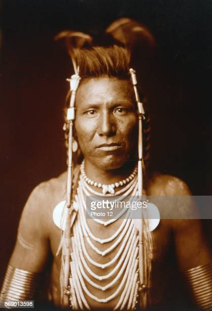 Photographic print of Ben Long Ear photographed by Edward Sheriff Curtis American ethnologist and photographer of the American West and of Native...