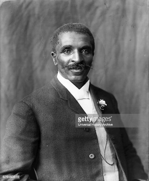 Photographic print of George Washington Carver halflength portrait facing right Tuskegee Institute Tuskegee Alabama by Benjamin Frances Johnston